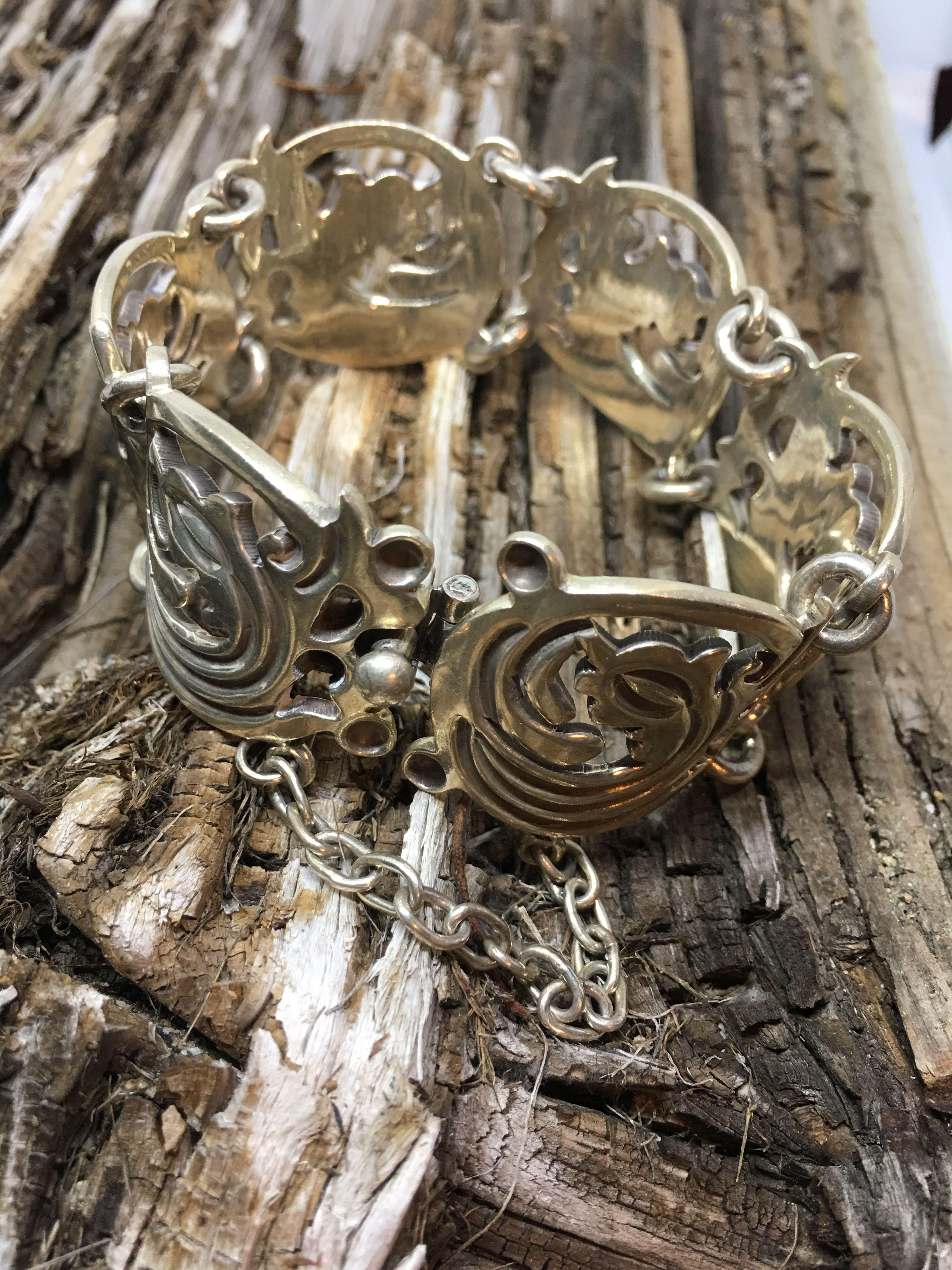 safety pin bracelet silver