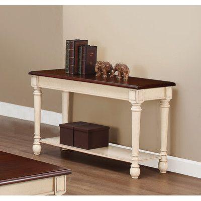 Three Posts Classic Two Tone Sofa Table Reviews Wayfair - Wayfair white sofa table