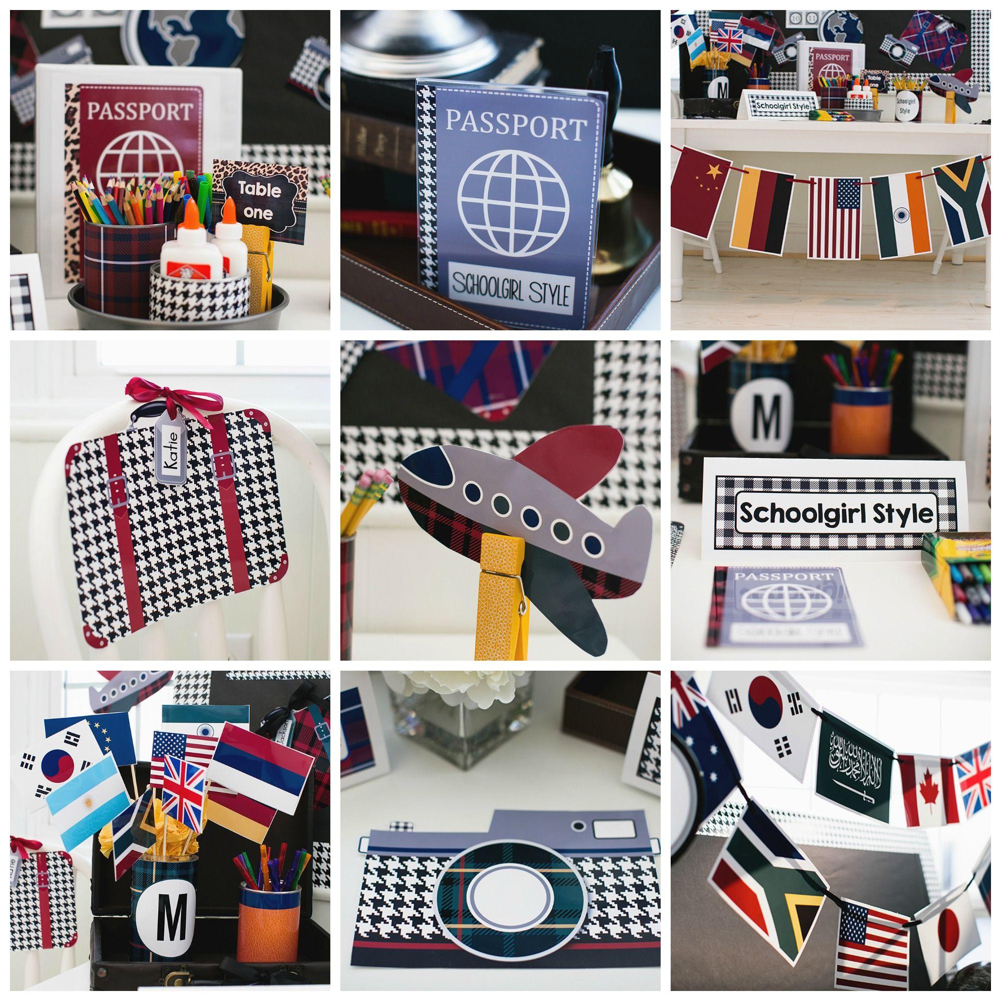 world traveler classroom theme and decor by schoolgirl style world