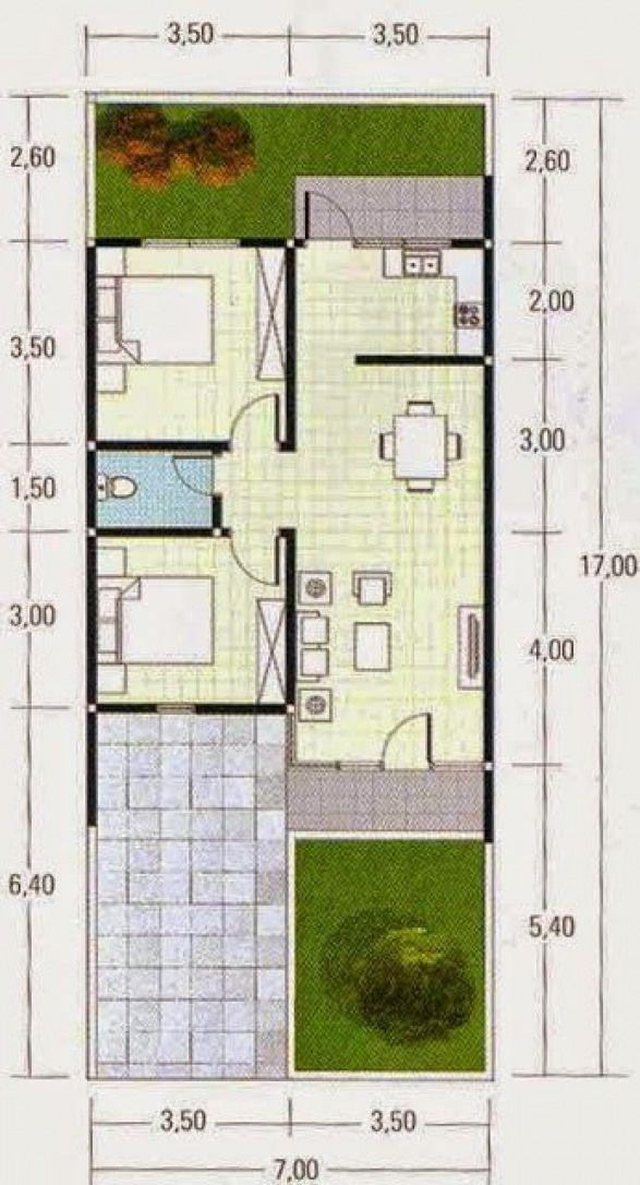 Denah Rumah Minimalis Type 60 #shedplans in 2020   House ...