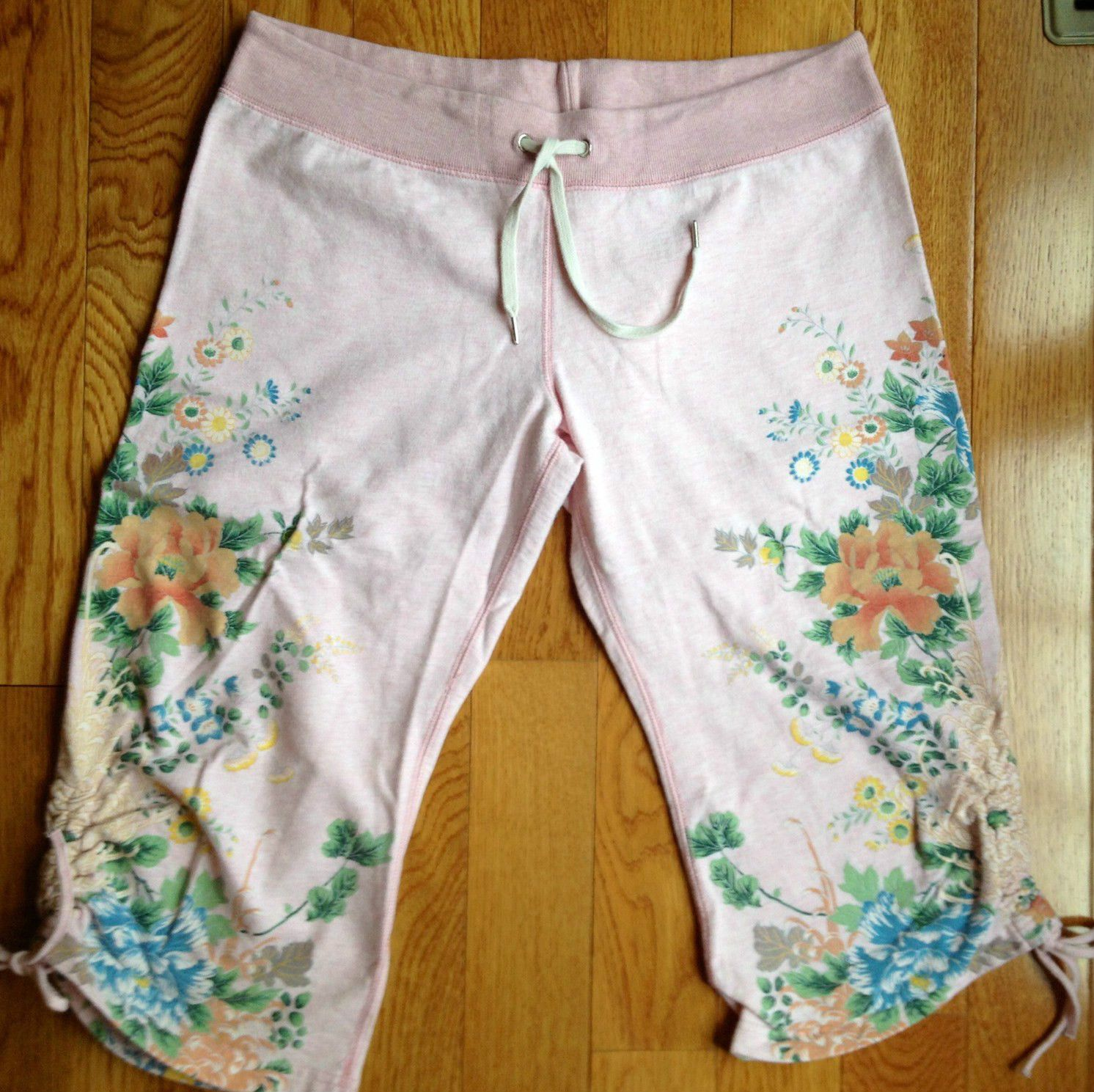 Lucky Brand Clinched Floral Crop Pants