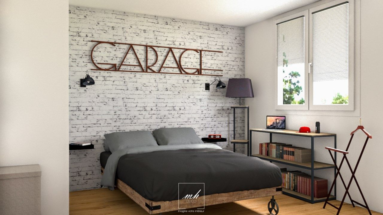 D coration industrielle neutre mes conception 3d pinterest d coration industrielle for Chambre ado style industriel