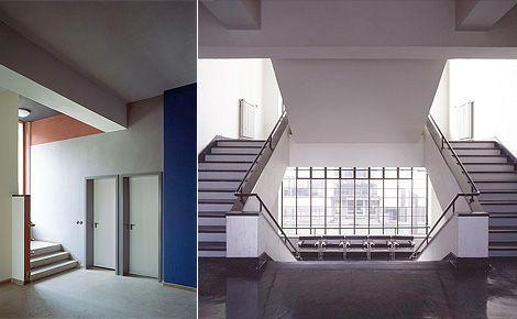 bauhaus building interior Google'da Ara Interiores