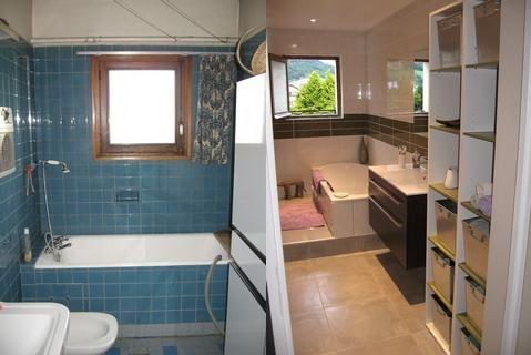 Le carrelage a été repeint avec une peinture salle de bain acrylique - repeindre du carrelage de salle de bain