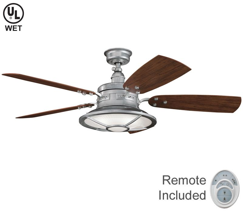 Ceiling fans with lights walk out galvanized steel 52 ceiling fans with lights walk out galvanized steel 52 outdoor ceiling aloadofball Images