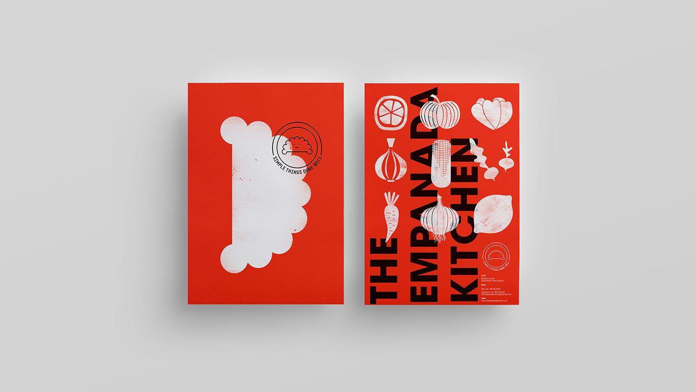 Theempanadakitchen On Behance Food Packaging Design Restaurant Business Cards Packaging Design