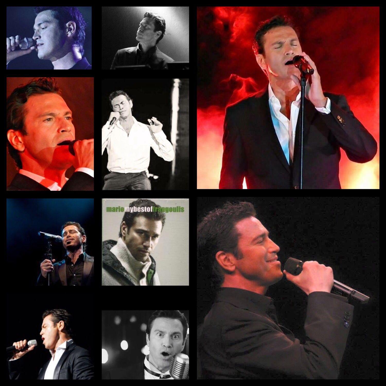 Collage of Mario Frangoulis!