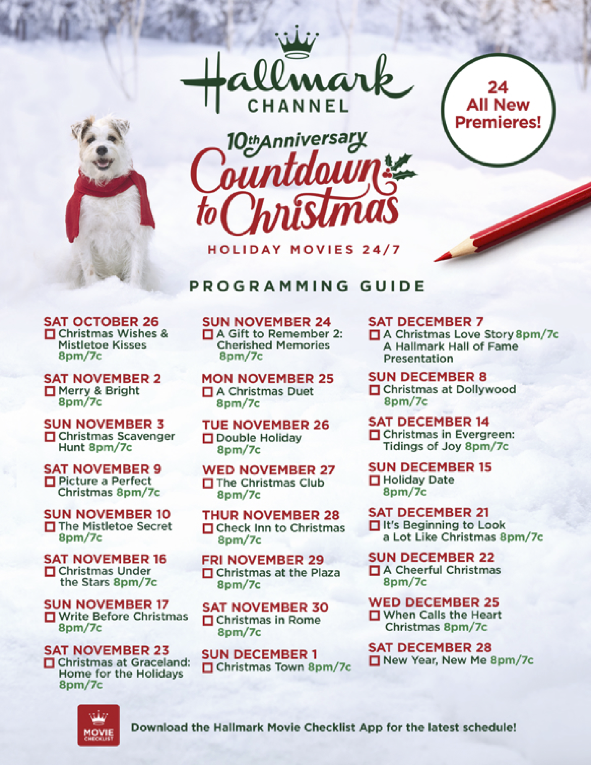 Be A Part Of History As Hallmark Channel Celebrates The 10th Anniversary Of Countdown To Christmas Christmas Shows Hallmark Christmas Movies Hallmark Christmas