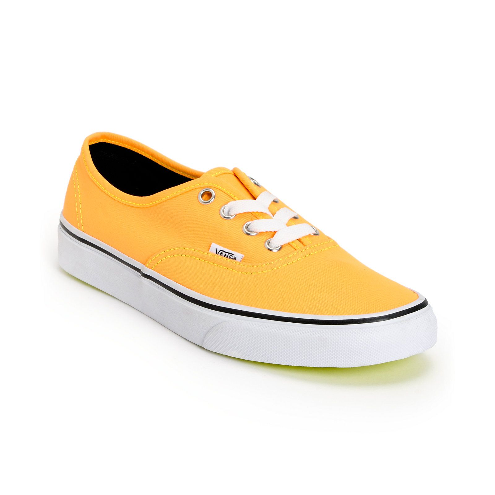Vans Authentic Neon Orange & Yellow Shoes | Zumiez