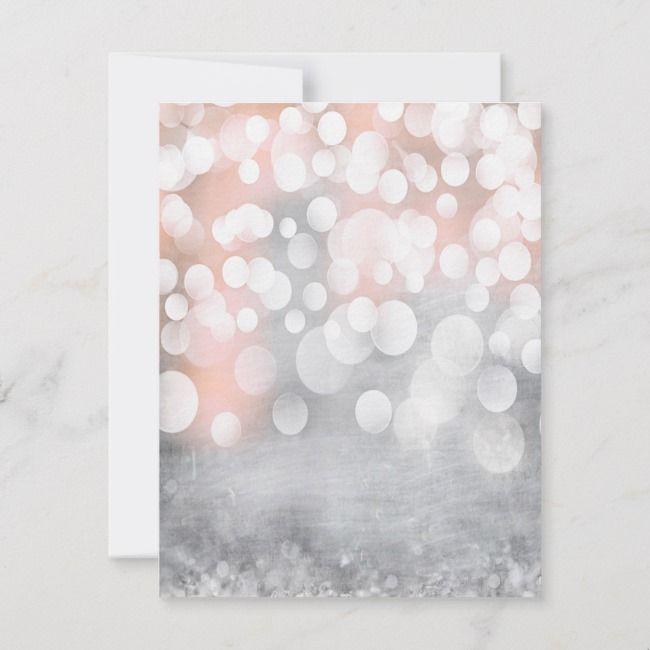 4x5 Flat Thank You Card Glitz Pink Sparkles Zazzle In