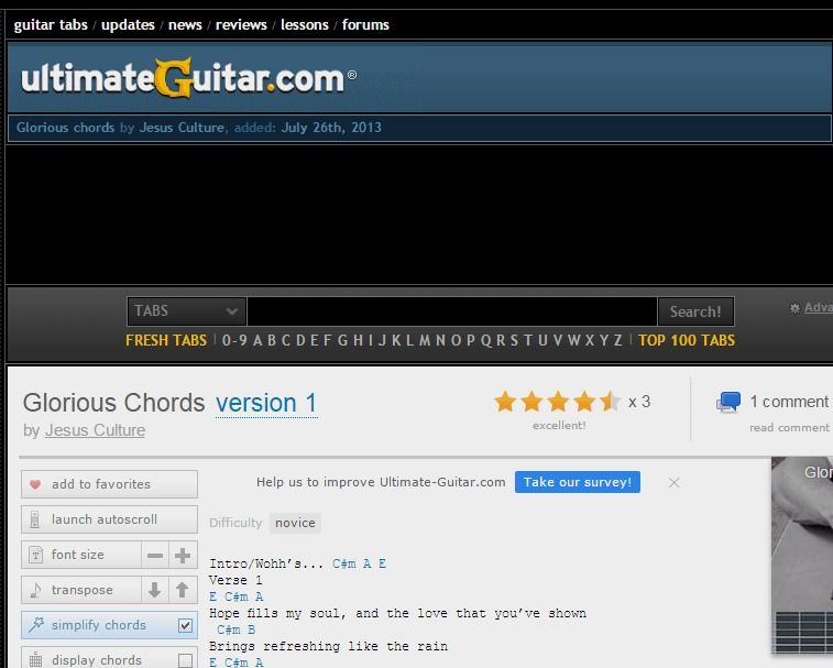 Glorious Chords By Jesus Culture Ultimate Guitar Httpsplay
