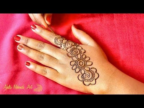 Simple and easy arabic mehndi design back hands also best henna images rh pinterest