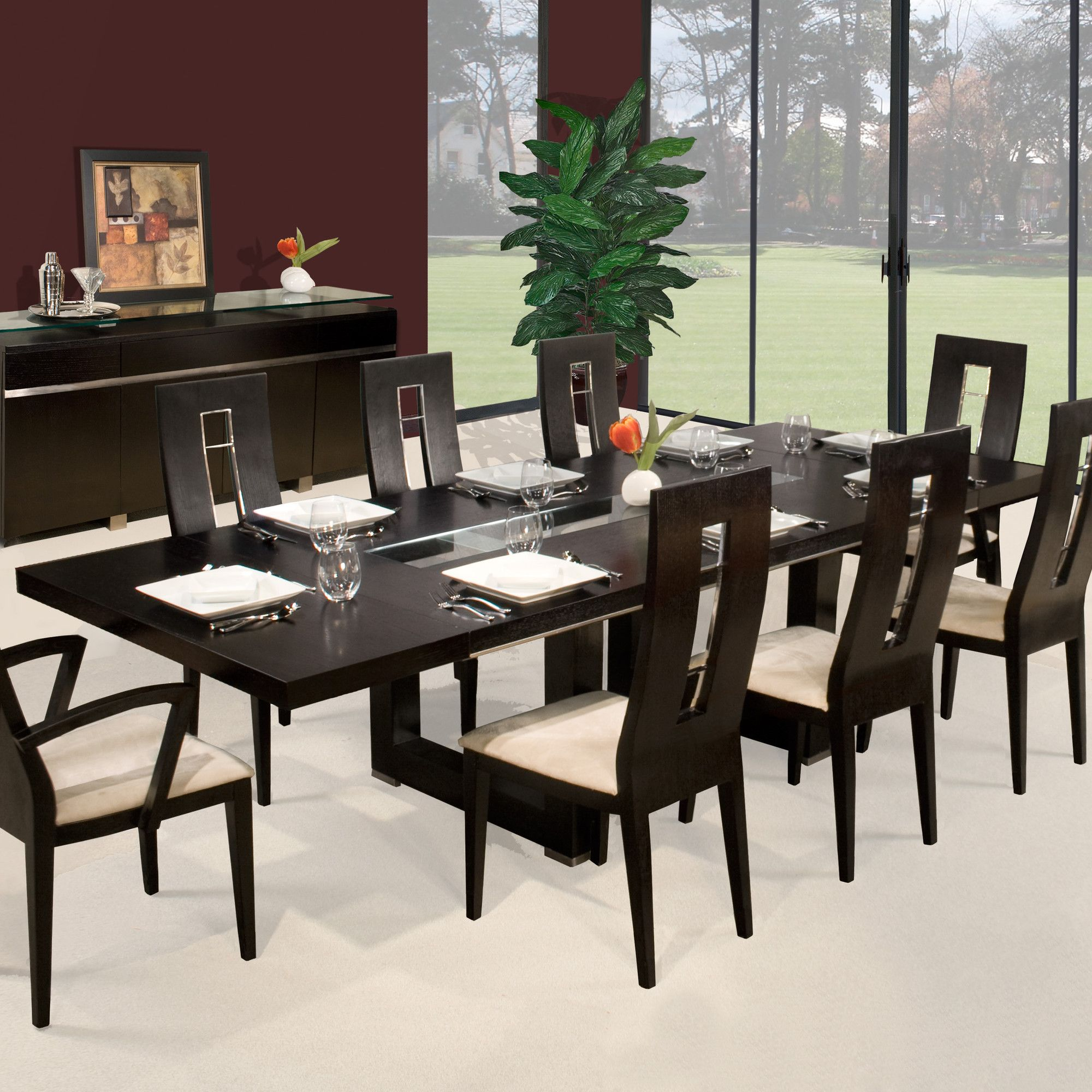 sharelle furnishings novo  piece dining set  allmodern  dining  - sharelle furnishings novo  piece dining set  allmodern