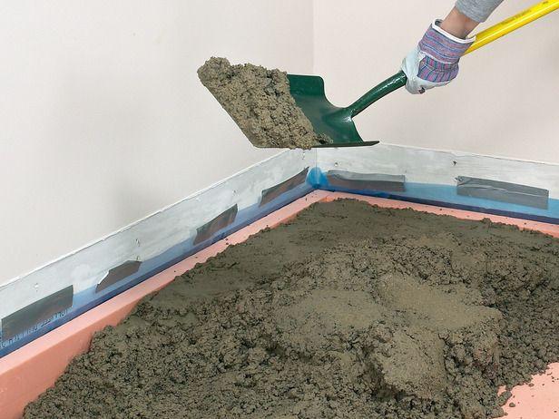How To Pour A Concrete Floor Concrete Floors Basement Flooring Basement Flooring Options