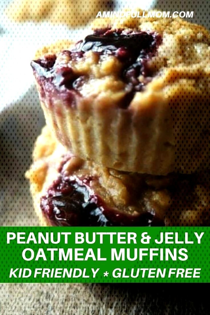 Free Peanut Butter and Jelly Muffins: A childhood classic in a gluten-free muffin form. Perfect for