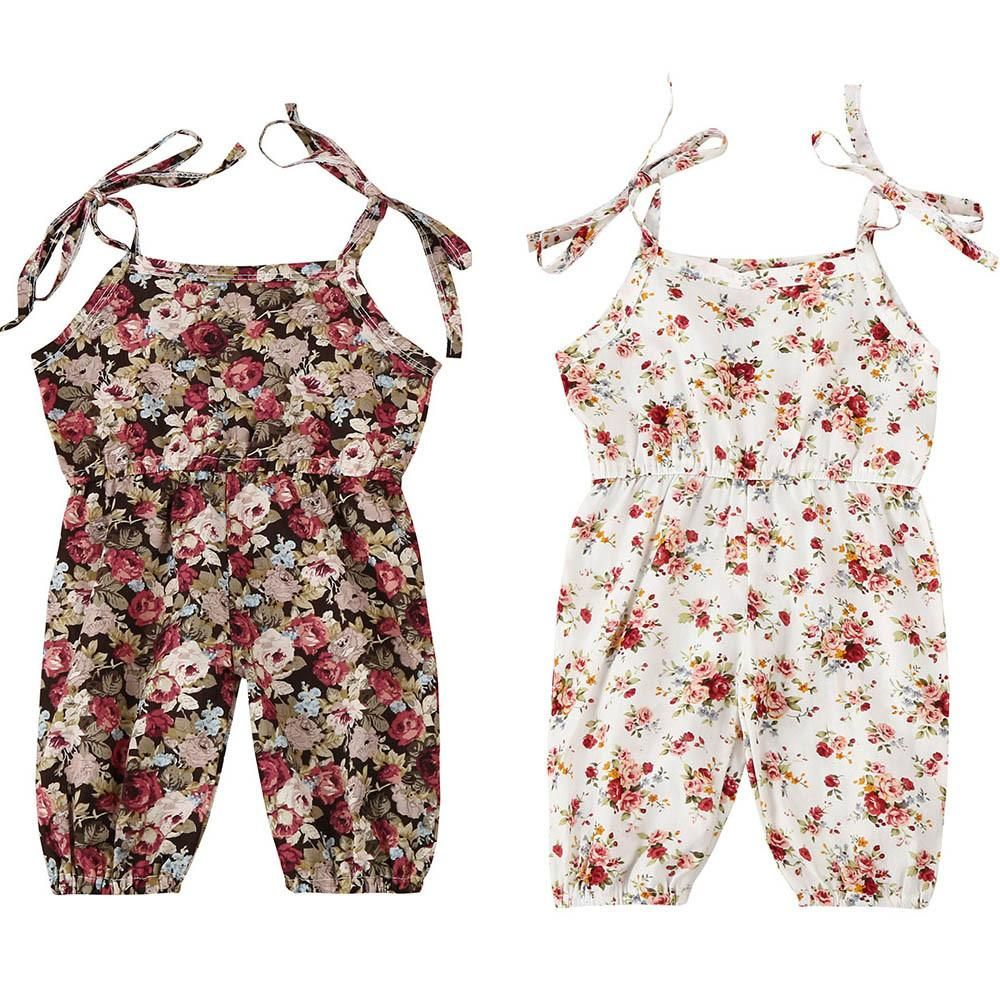 bf2fc8613890 Cute Newborn Baby Girls Clothing Romper Sleeveless Cute Flower Summer  Playsuit Outfit Baby Girl Rompers 6-24M