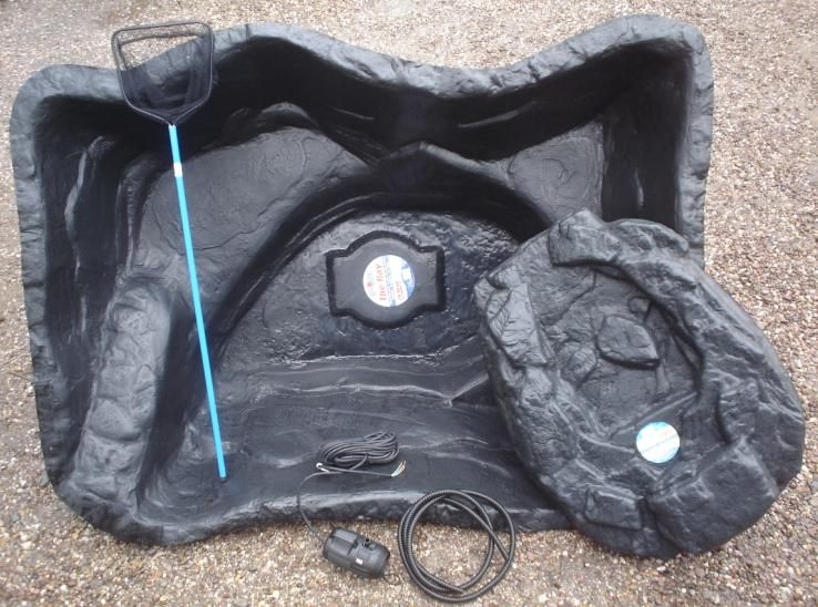 pond kits with waterfalls | Bermuda Pond Kit (The Bay) for sale. A great value kit, the pond is ...