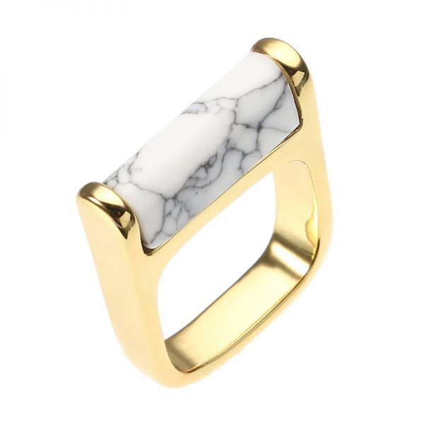 Michael M Rings Jy Women Fine Jewelry Gold Plated White Turquoise Retro Ring Clothing Aaccessorie S Best Fashion Woman