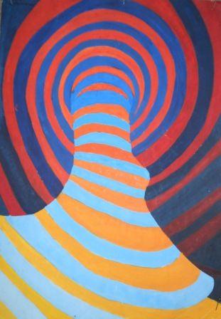 Praktično primenjena matematika u slikanju, koristeći prirodne obrasce ponavljanja koji se odnose na ritam.
