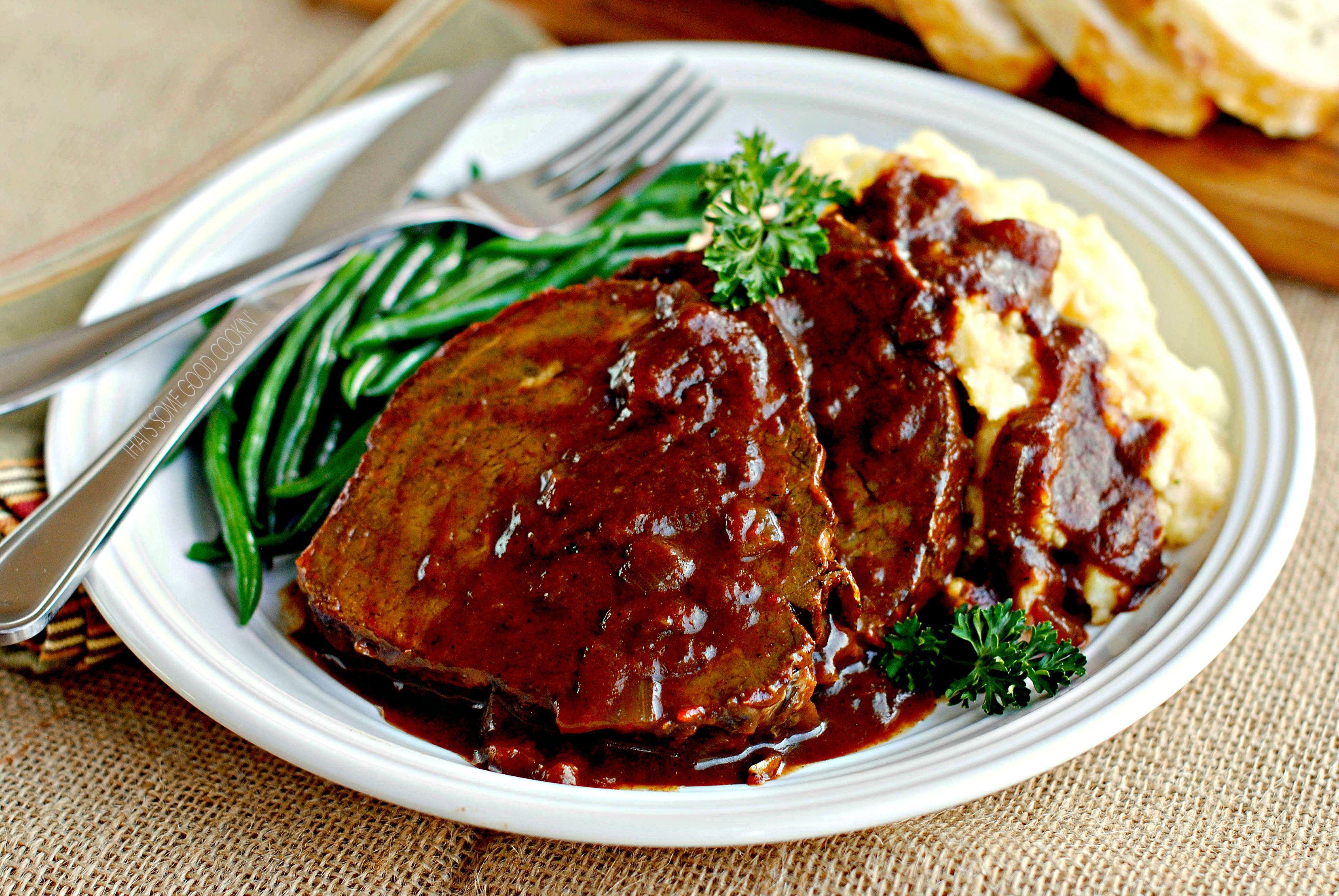 German Style Pot Roast Sauerbraten Recipe Pot Roast Pork Roast Crock Pot Recipes Recipes