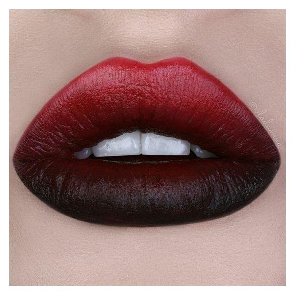 Schwarze Lippen ❤ beliebt bei Polyvore mit Beauty-Produkten, Make-up und Lippenm … – Make-up Geheimnisse