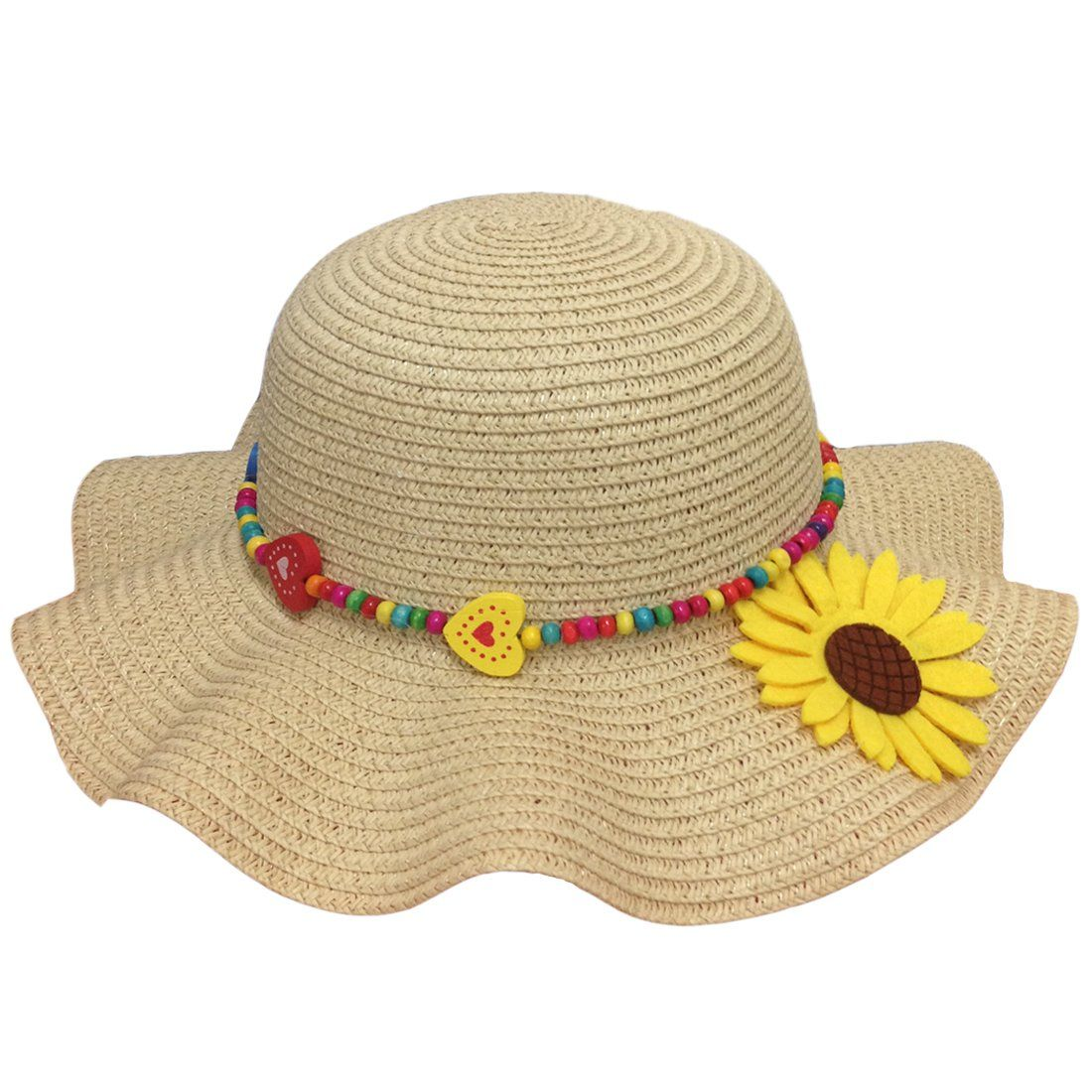 JTC Little Girls Multi-colors Sun Hat with Strap ( 7). Material  100%  straw. Head Circumference 51-52cm 043526374b0