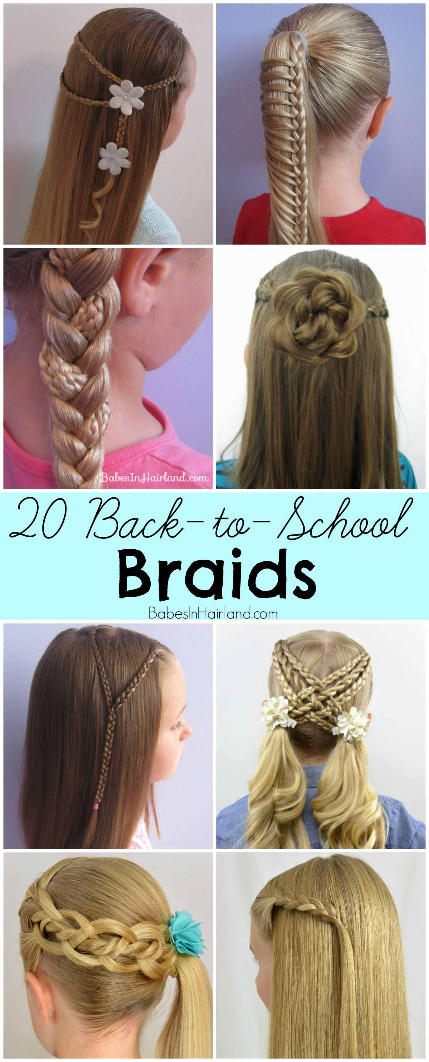 Quick Hairstyles For School 20 Backtoschool Braids  Trenzas  Pinterest  Rose Bun School