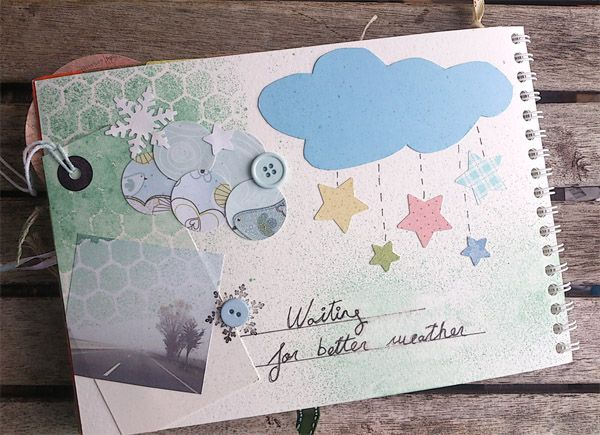 Scrapbook page: waiting for better weather