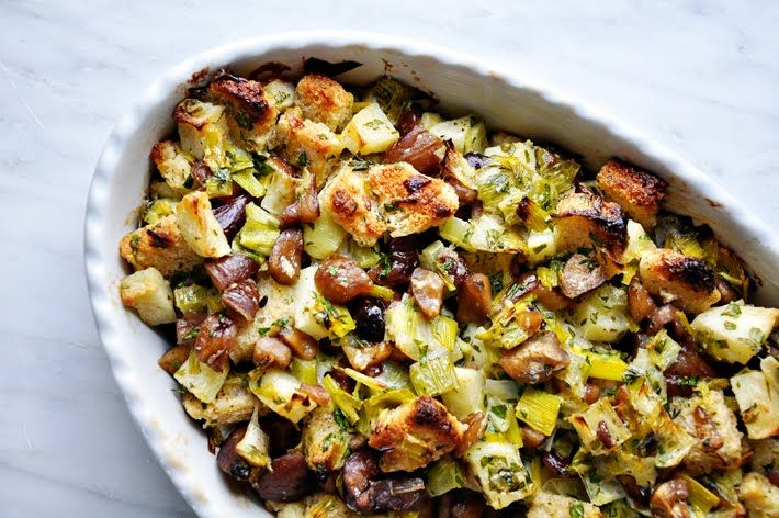 Combine local apples with chestnuts from LoMo, and you're well on your way to a new and delicious stuffing recipe for the holidays. The Parsley Thief showcases this chestnut, leek and apple stuffing recipe that could change your life, and will definitely make your evening.