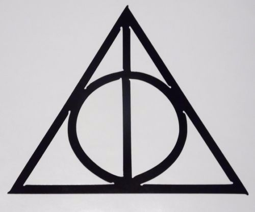Harry Potter Deathly Hallows Symbol Truck Window Vinyl Decal Sticker 10 COLORS #TheStickerEmporium