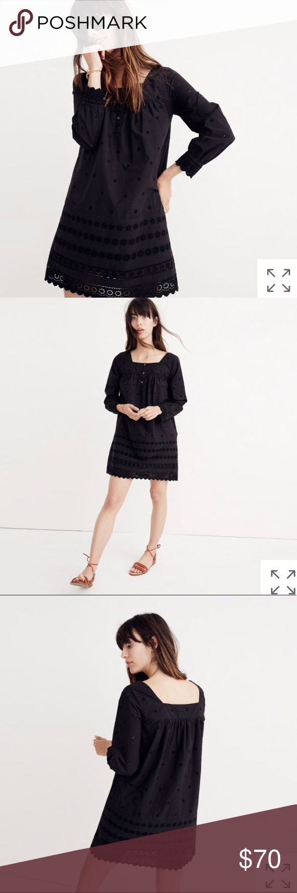 New Madewell Embroidered Eyelet Shift Dress Dresses Clothes Design Shift Dress [ 1740 x 580 Pixel ]