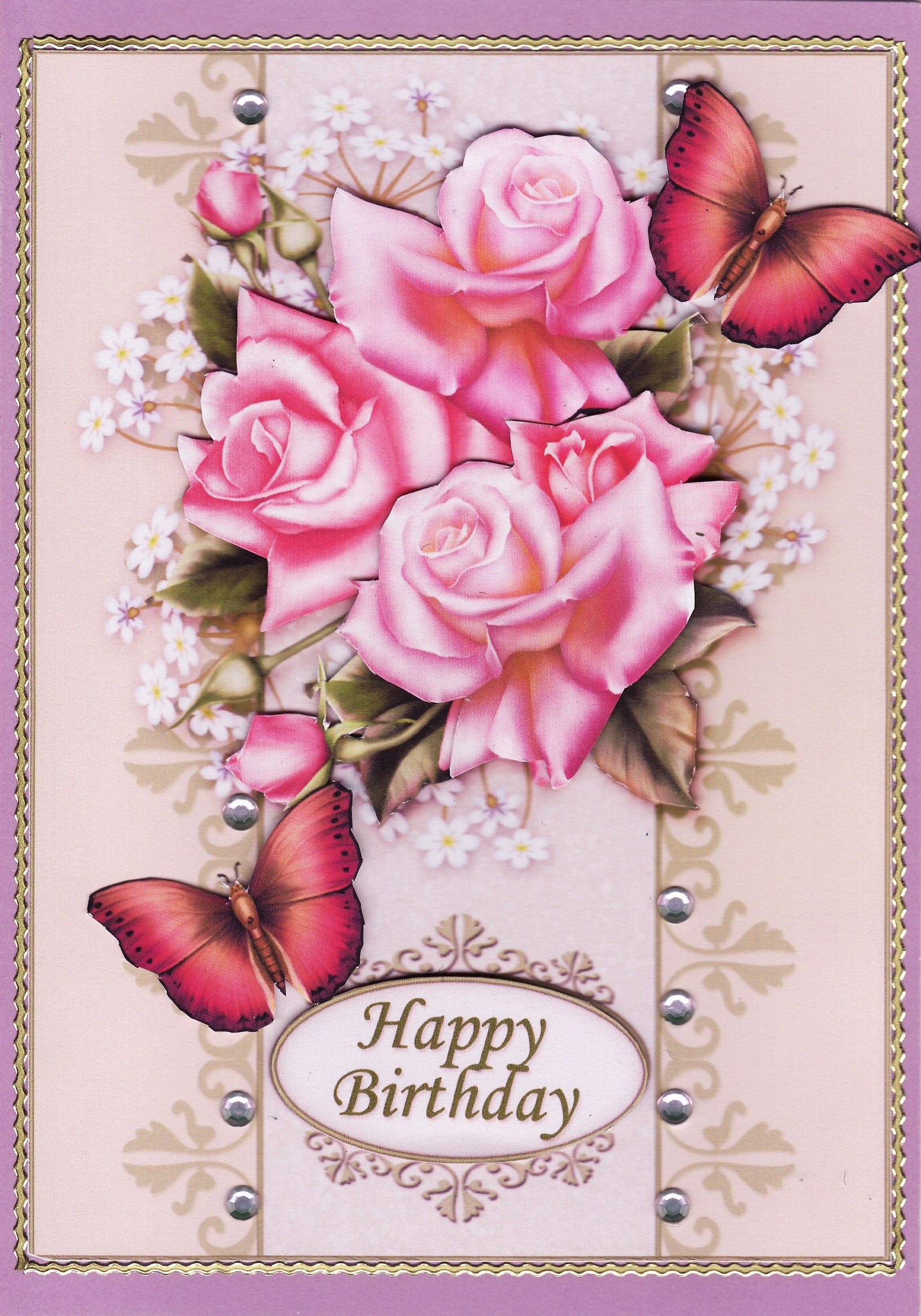 3d happy birthday card happy birthday woman birthday
