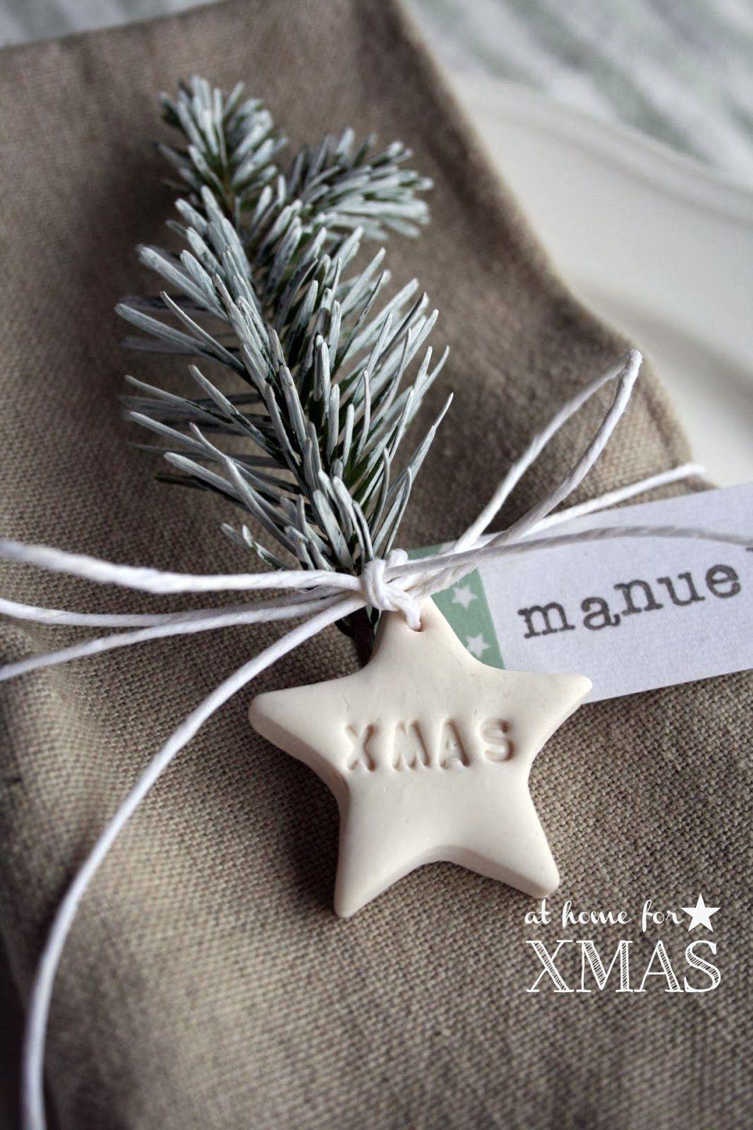 Érase una vez Bodas y Eventos: DIY Marcasitios navideños