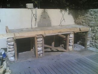 Construction plan de travail barbecue barbecue for Construire barbecue exterieur