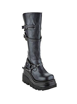 edbada67be9 Demonia By Pleaser Black Shaker 101 Boots