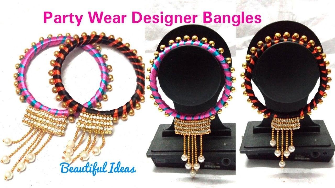 Diyhow to make silk thread designer bangles pearls