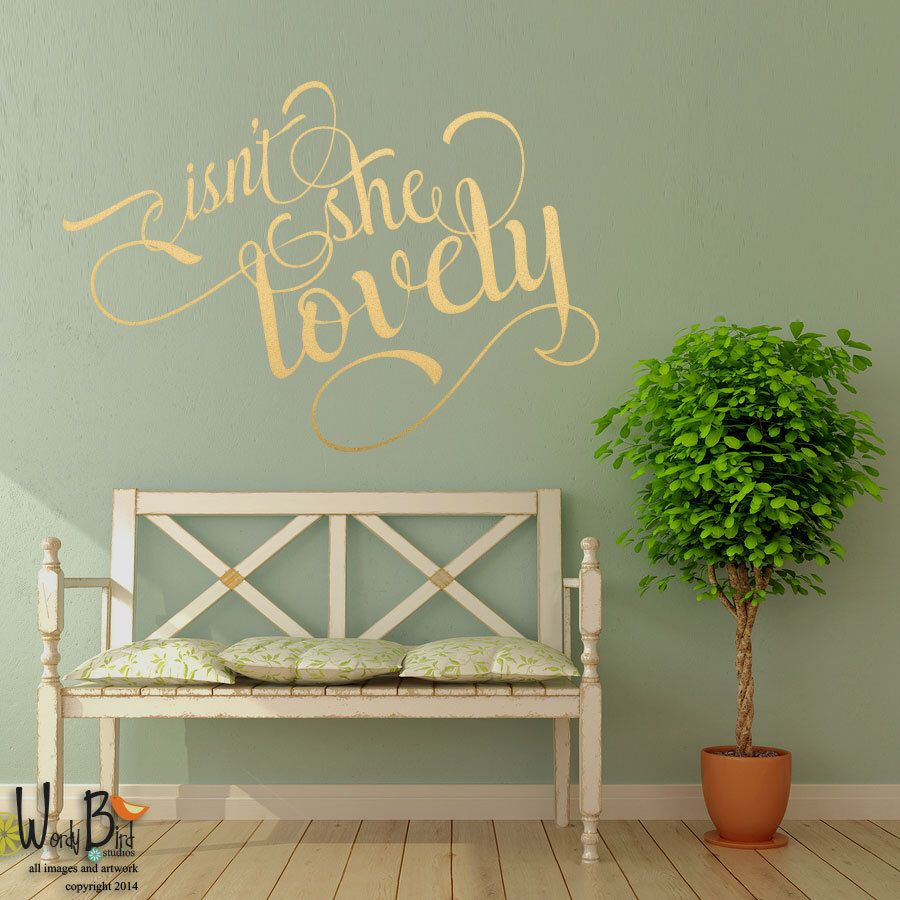 Beautiful And Intricate Nursery Wall Decal For Baby Girl With Vines,  Flowers, Birdcage, Birds And Butterflies. Good For Wedding Or Office As