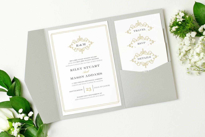 Use your home printer to create stunning pocket wedding ...
