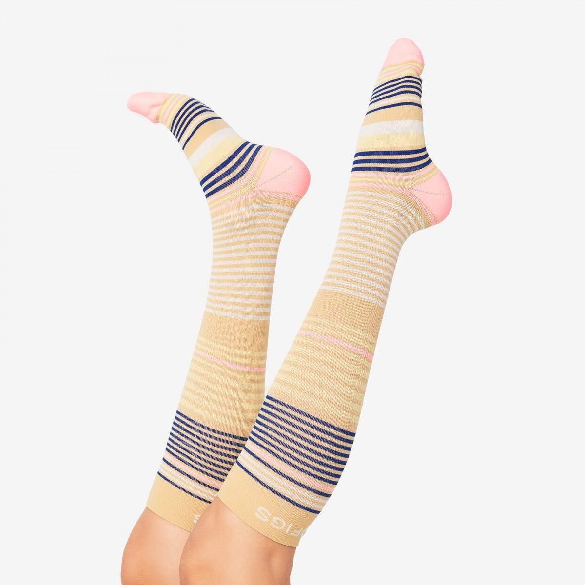 Womens Compression Socks FIGS Stripe Womens