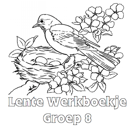 Kleurplaten Lente Groep 8.Lente Werkboekje Groep 8 Lente Taal Groep 6 7 8 School School