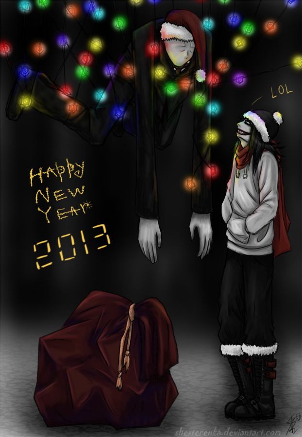 Merry Christmas and a happy new year slendy!!! XD