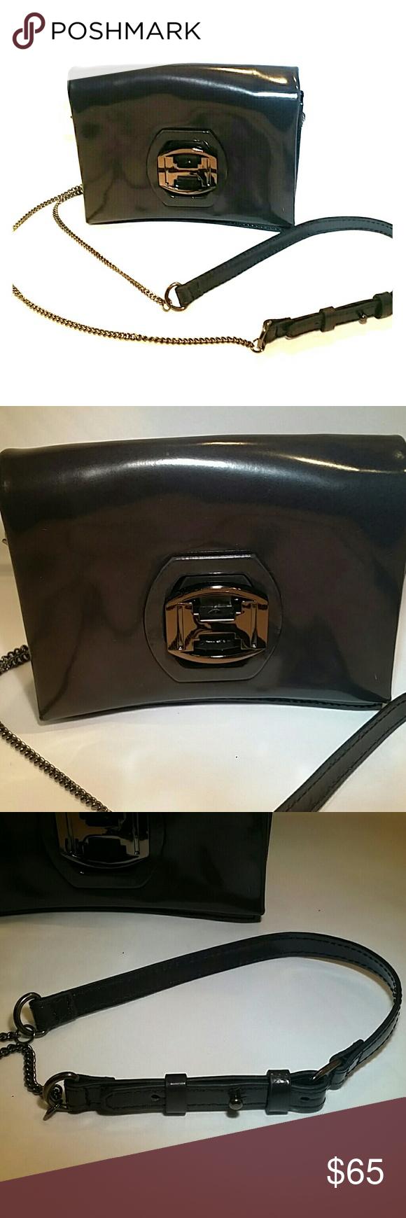 c2ede956909 Halston Heritage Gunmetal Crossbody Bag Beautiful, barely worn, gunmetal,  crossbody evening bag.