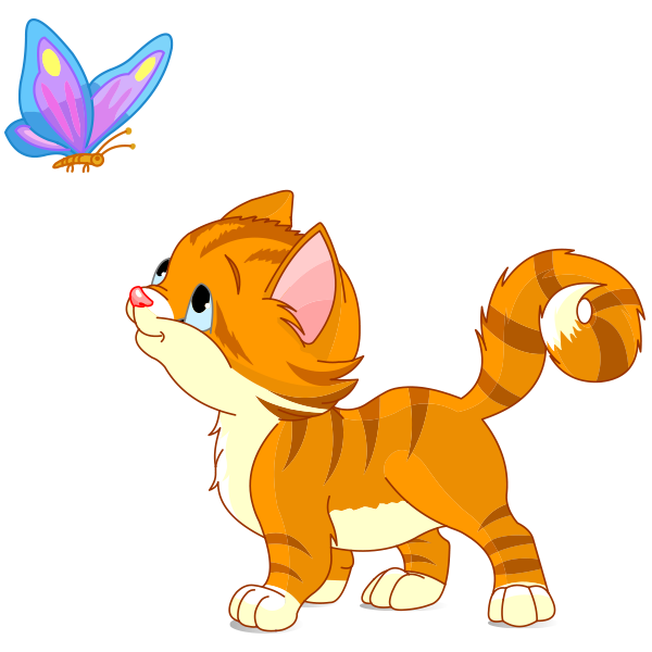butterfly kitten butterfly clip art and turtle crafts rh pinterest com Different Clip Art Kittens Cute Baby Kittens