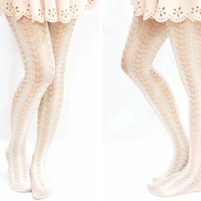 0025670e664e9 Lolita butterfly pattern fishnet tights -creamy white | Tights in ...
