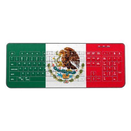 Mexico Wireless Keyboard - customize diy   Mexico gift ...