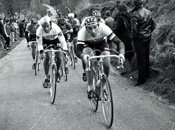 White T-shirt Amstel Gold Race retro cycling classic