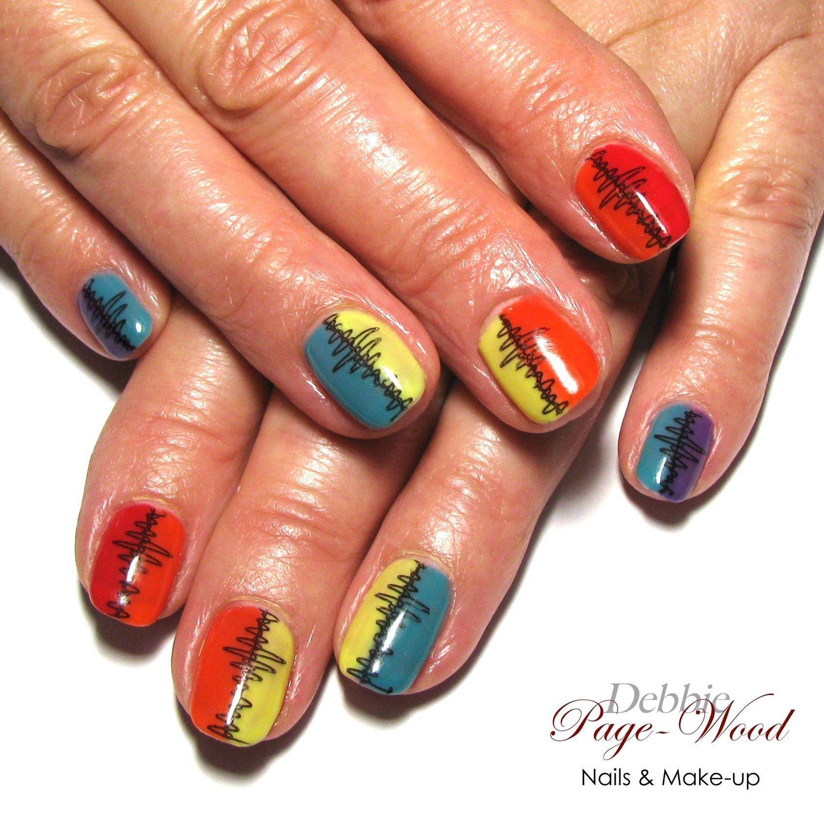 Shock Waves Trendy Nails Red Nails Black Nail Designs