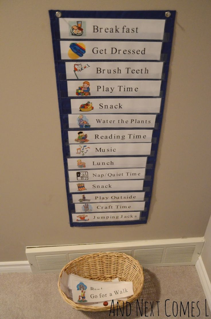 Free printable daily visual schedule kids schedule
