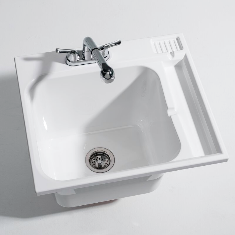 Cashel 25 X 22 Drop In Laundry Sink With Faucet Reviews