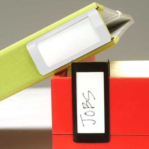 Clip-on Label. Good For Binders, Boxes And More! Makes